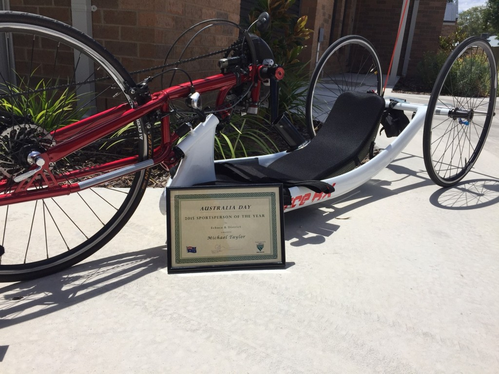 Michael Taylor's winning tricycle